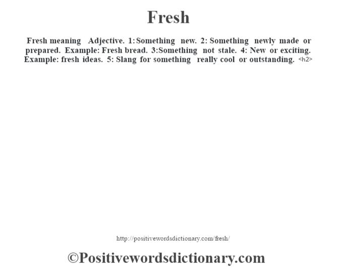 Fresh-definition
